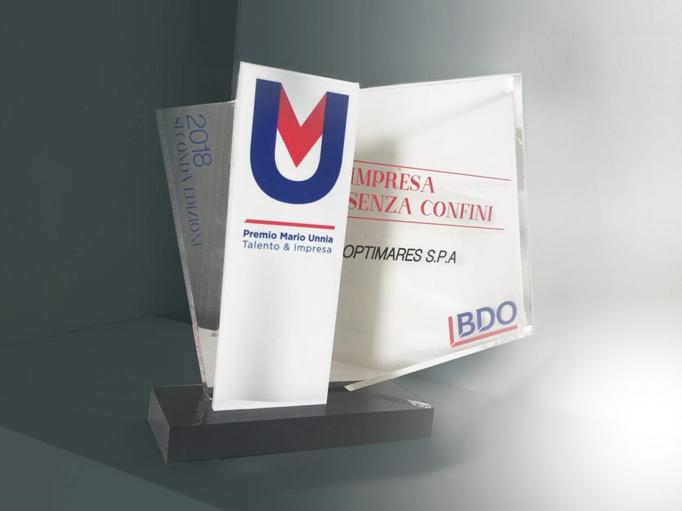 Glad for be awarded in Premio Unnia by Bdo Italia